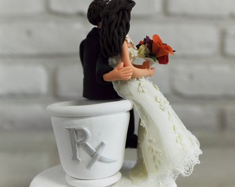 Pharmacist, druggist, Chemist wedding cake topper