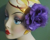 Flamenco purple  Rose Hair Flower clip