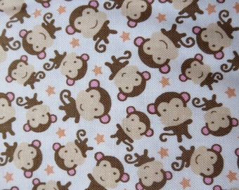 Weekly Special - Riley Blake - Sweet Baby Girl - C4295 - Monkeys White