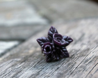 X-Grande Purple  Flower Bouquet Ring