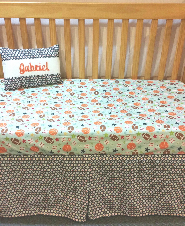 Sports Toddler Bedding Baby Boy Crib Bedding Set Play