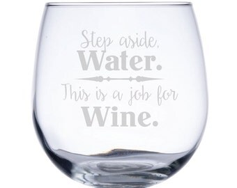 Stemless Red Wine Glass-17 oz.-7773 Step aside Water. This is a job for Wine.