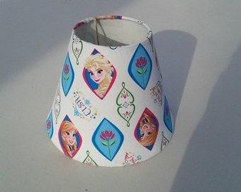 Frozen lamp shade.  Elsa and Anna