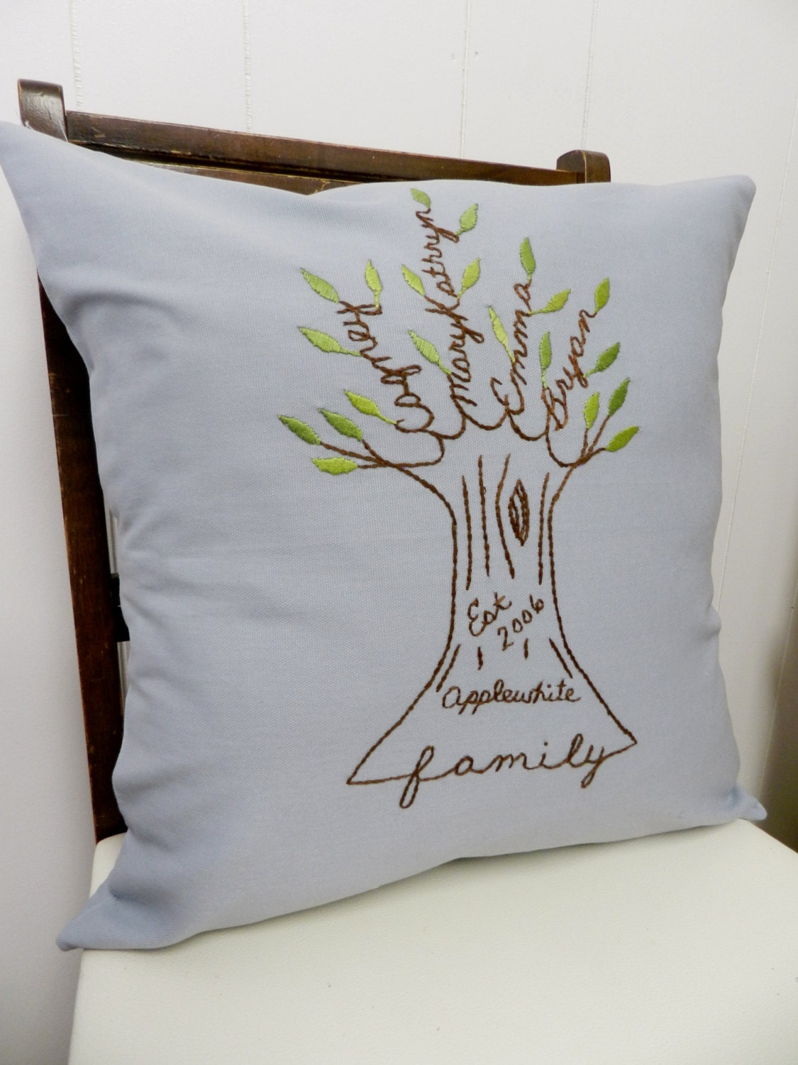 Personalized Family Tree Pillow Cover Father S Day