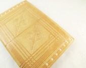 Camel Leather Wallet Handmade Moroccan Billfold Unisex Tan Hand Tooled 1950's Brown Wallet