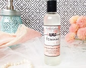Feminine Cleansing Wash -- Best Natural Feminine Hygiene Product 8 oz jumbo bottle