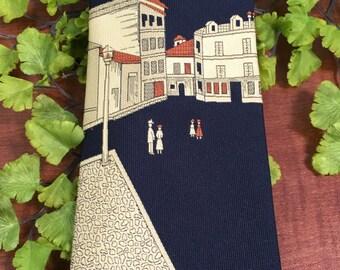 RARE Vintage Mens Wide Polyester Street Scene Necktie ~ novelty necktie, wide necktie, hipster tie,Italian street scene necktie