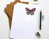 Butterflies Letter Writing Set - Illustrated Writing Paper