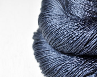 Stormy sea OOAK - Merino/Silk Fingering Yarn Superwash