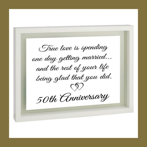 Anniversary Gift for Parents th Golden Wedding Present for Mom and