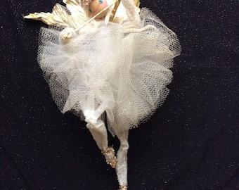 Vintage chenille Angel Ballerina Violininst