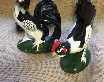 Rooster and Chicken Vintage Made in Japan set