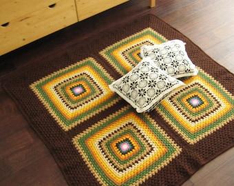 Too Square Multicolor Rug / Floor Mat  53x53