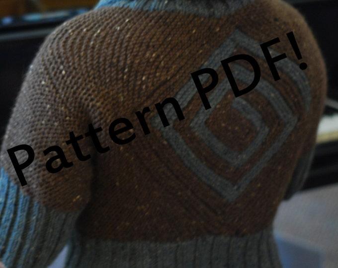 Diamondback Cardigan Sweater: PDF Knitting Pattern by The Sexy Knitter
