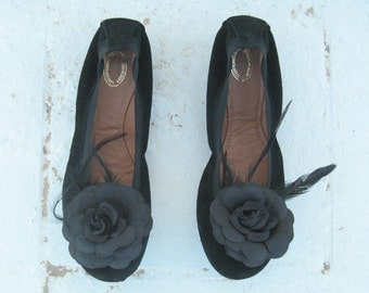 BLACK LEATHER FLATS! Ballet flats in black, genuine leather, ballet shoes for women, handmade 100% from genuine leather/womens flats,