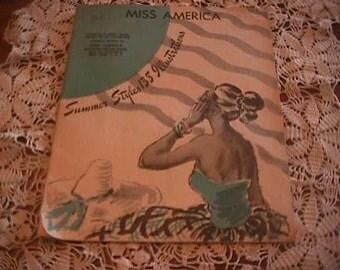 Vintage Miss America Clothing Pattern Catalog, Summer, 1948