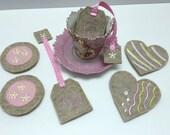 Tea Party Felt Food Set, Felt Cookies, Felt Tea Bags, Little Girls Tea Party, Valentine Gift, Felt Food, Tea Party Birthday