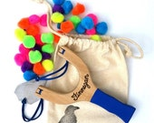 SALE PomPom Slingshot Personalized, Classic Wooden Waldorf Toy