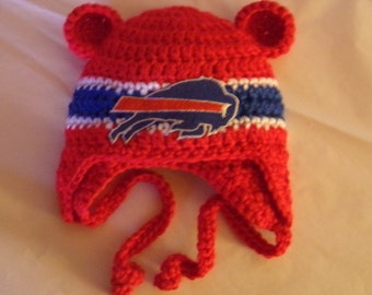 Buffalo Bills Baby hat for Newborn to 18 months- New York team colors