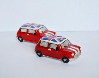 Vintage British Taxi Car Salt and Pepper Set