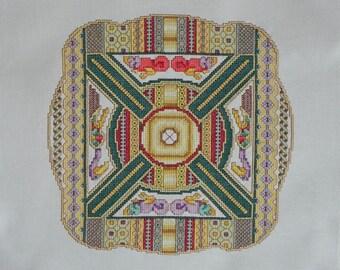 Celtic MacRegol Medallion Cross-Stitched Picture