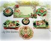 Graphic 45 Time to Celebrate Handmade Scrapbook Embellishments Paper Embellishments for Scrapbooking Cards Mini Albums Tags and Paper Crafts