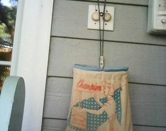 Vintage retro clothespin bag