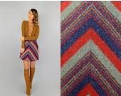 SUMMER SALE SALE • 60's Chevron Mini Skirt