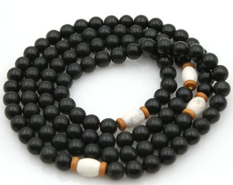 Tibetan Buddhist 108 Jade Prayer Beads Mala Necklace  N108-QY006