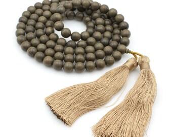 Tibetan Buddhist 108 12mm Wood Prayer Beads Mala Necklace  N108-CM001