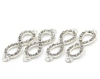 4Pieces Alloy Metal DIY Beads Finding Accessories 33mm*10mm  ja656