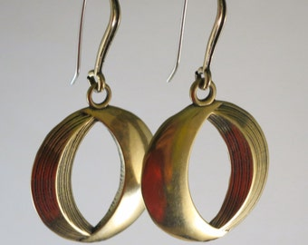 Round Phases of the Moon Earring by Kim Fox