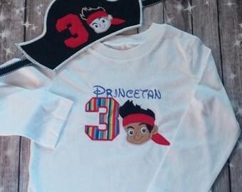 Pirate Birthday Shirt and Hat