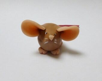 Fancy Rat Ornament Brown Agouti Dumpy Rat Mouse Sculpture