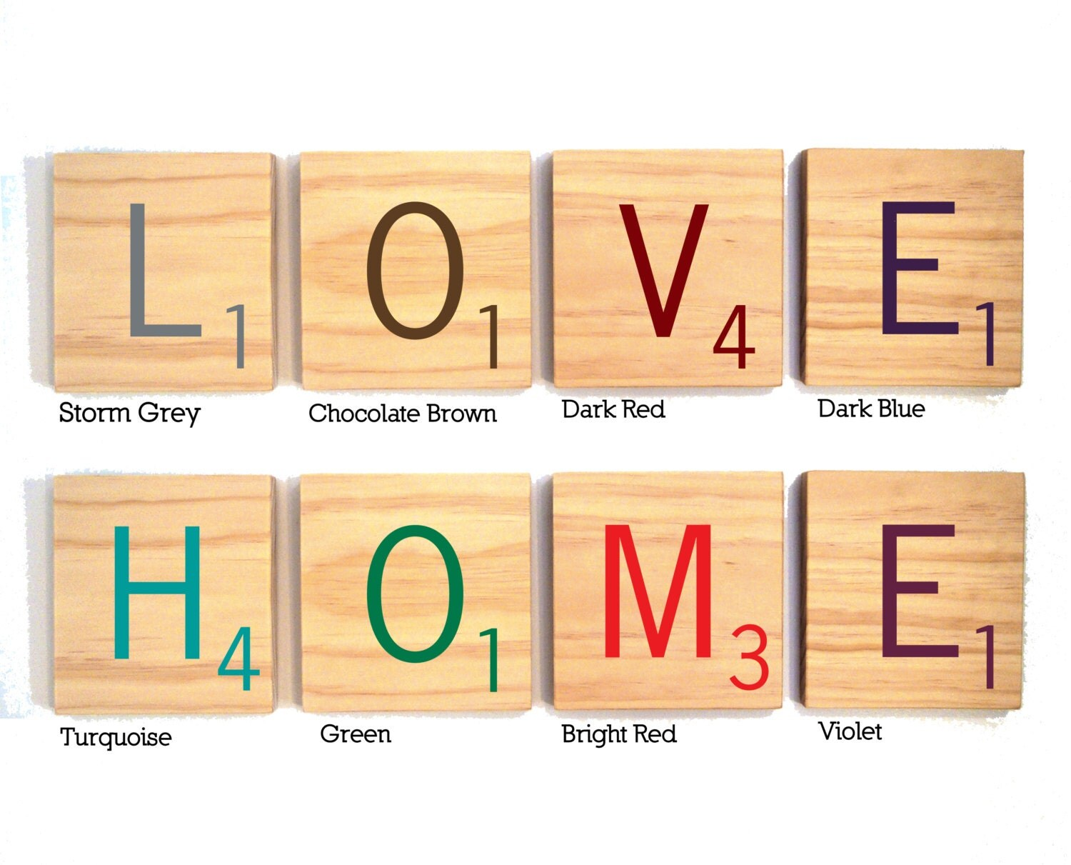 Old Fashioned Large Scrabble Letters Wall Decor Composition - Wall ...