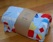 Flannel Fitted Crib Sheet - Tropical Sailing - SALE