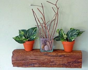 Reclaimed Wood Floating Shelf, Beam Shelf, Rustic Shelf, Floating Shelf
