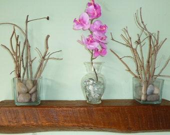Reclaimed Wood Floating Beam Shelf