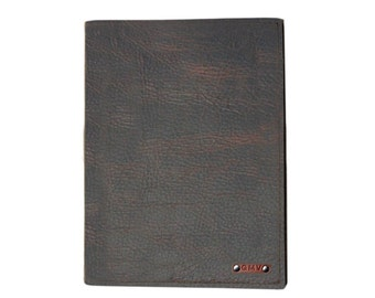 Classic Padfolio in Chocolate Grizzly Leather Made in the U.S.A. - CL-CHGZ-PDFL