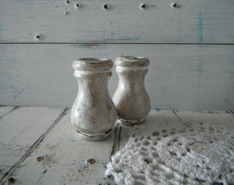 petite candle holder pair candle holders wood ornament french country cottage rustic country charm cottage chic distressed rustic glazed