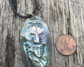 One of a kind pendant in Finesilver with a beautiful patina from our Spirit Series