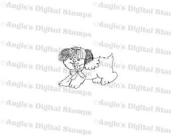 Buttercup The Dog Digital Stamp Image