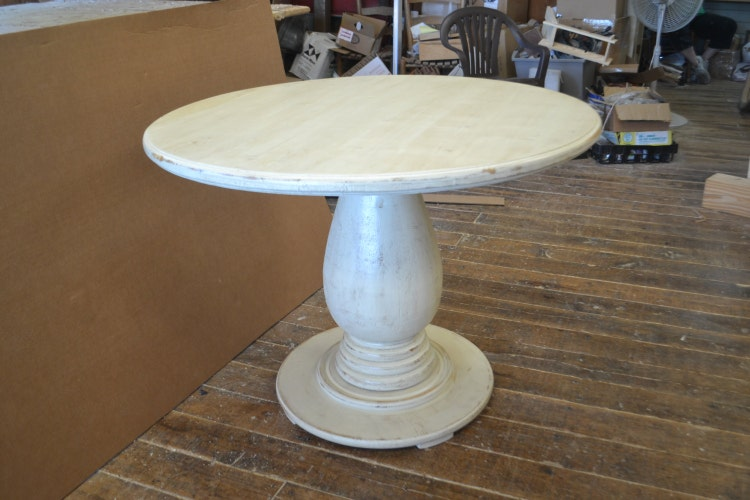 42 Inch Round Pedestal Table Huge Tear Drop By Thewoodworkman