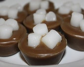 HOT COCOA  with Marshmallows Scented Primitive Holiday Cupcake Wax Tarts Melts Bowl Fillers STRONG