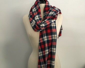 The London flannel blanket scarf