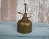 Vintage brass plant atomizer , mister , 1960's mid century