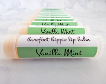 Vanilla Mint Lip Balm - lip balm - natural lip balm - vegan lip balm - natural skin care - mint lip balm - peppermint lip balm -vanilla mint