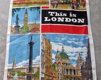 Souvenir Irish Linen Tea Towel THIS IS LONDON