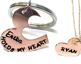 Couples Key Chain /Personalized Couples gift / Wedding gift / Girlfriend Boyfriend Gift
