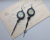 Steampunk Earrings Repurposed Clock Hands
